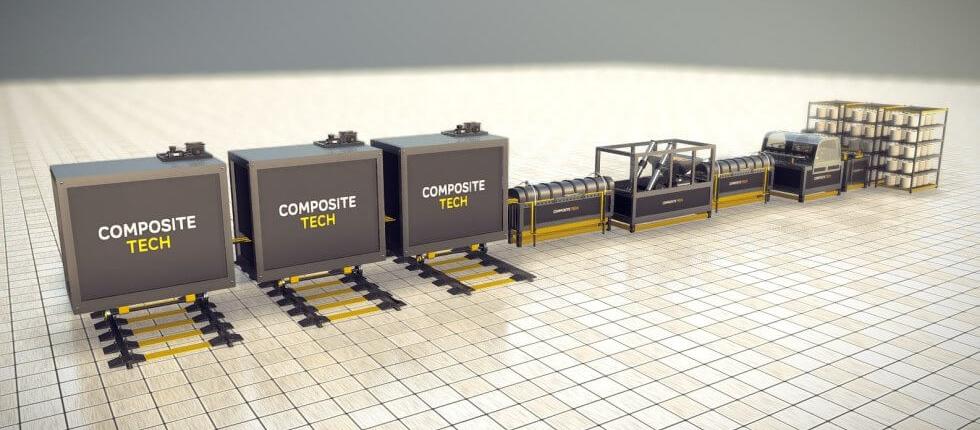 Composite products production line